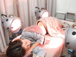 喘息にも光線療法